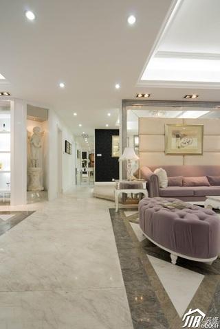 欧式风格别墅浪漫白色豪华型140平米以上客厅效果图