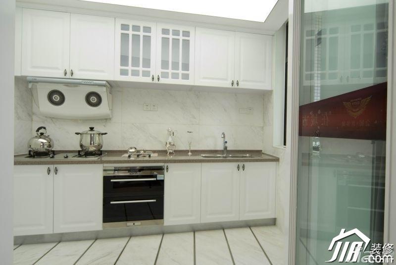 欧式风格别墅浪漫白色豪华型140平米以上厨房橱柜图片