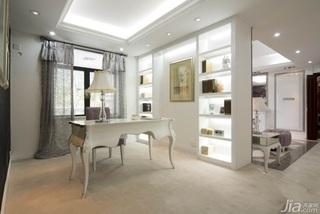 欧式风格别墅浪漫白色豪华型140平米以上书房书桌效果图