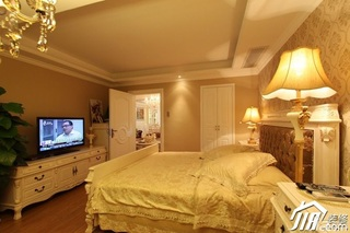 欧式风格二居室温馨豪华型80平米卧室电视柜效果图