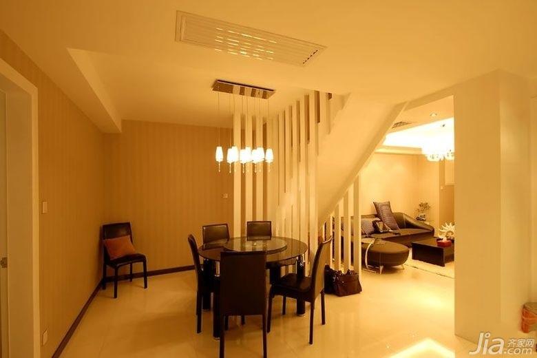 简约风格别墅大气暖色调富裕型140平米以上餐厅隔断餐桌效果图