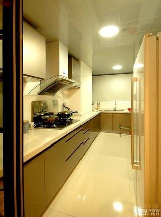 简约风格别墅大气暖色调富裕型140平米以上厨房橱柜效果图