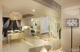 中式风格公寓暖色调140平米以上餐厅灯具效果图