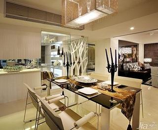 中式风格公寓暖色调140平米以上餐厅餐桌效果图