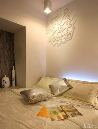 中式风格公寓暖色调140平米以上卧室床效果图