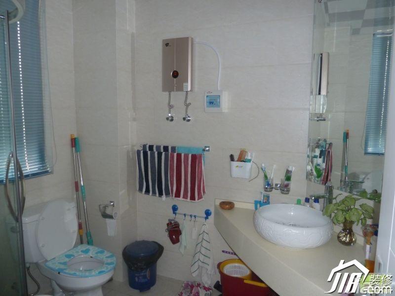 简约风格小户型3万-5万卫生间洗手台图片