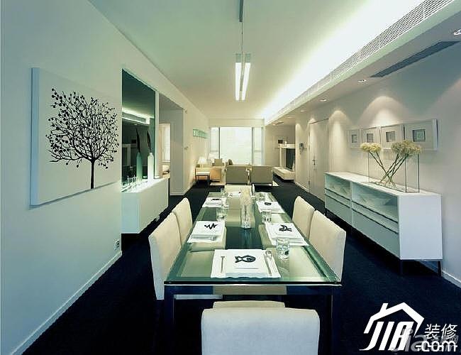 简约风格二居室温馨米色富裕型餐厅橱柜设计图