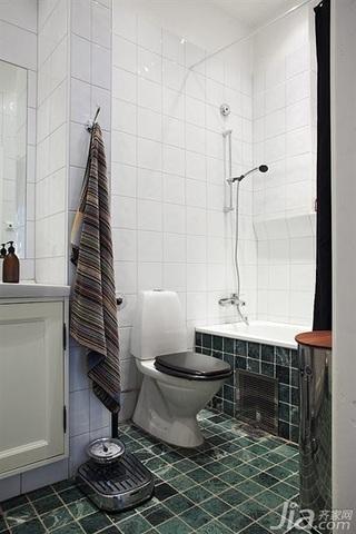 宜家风格四房富裕型卫生间装潢
