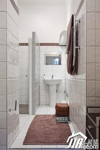 宜家风格公寓富裕型卫生间浴室柜效果图