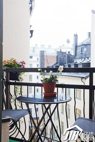 宜家风格公寓富裕型阳台装潢