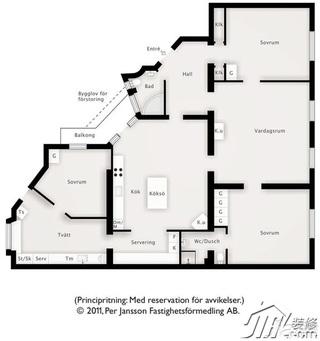 宜家风格公寓富裕型装修效果图