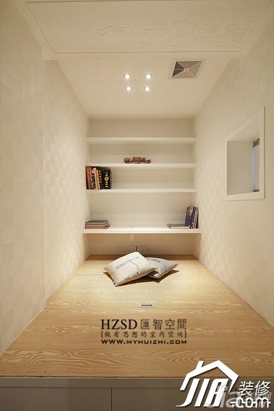 简约风格一居室大气米色富裕型60平米卧室榻榻米婚房家装图片