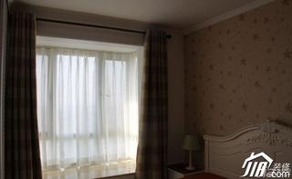 田园风格公寓5-10万50平米卧室窗帘效果图