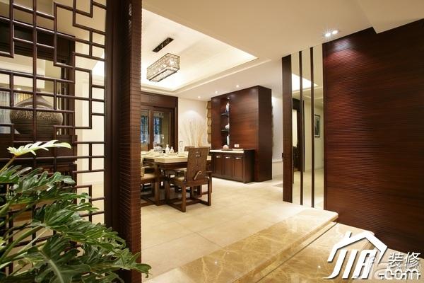 中式风格公寓富裕型140平米以上隔断装修效果图