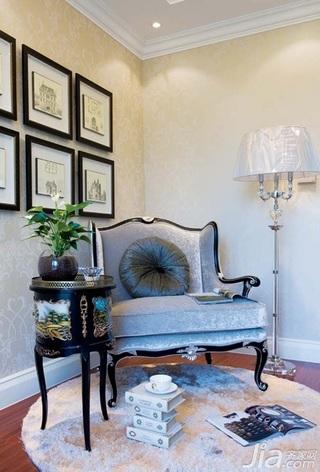 欧式风格别墅古典豪华型140平米以上书房照片墙灯具效果图