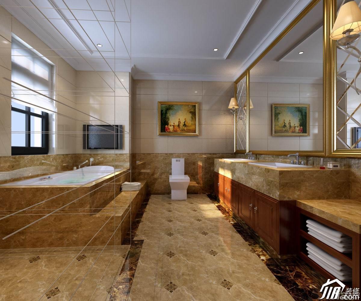 简约风格别墅奢华豪华型卫生间浴室柜效果图