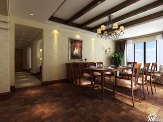 混搭风格四房以上豪华型餐厅餐厅背景墙餐桌效果图