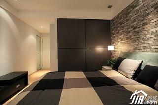 简约风格公寓冷色调富裕型卧室卧室背景墙衣柜设计