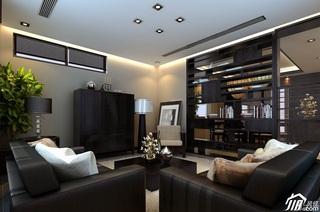 简欧风格别墅时尚20万以上客厅客厅隔断沙发效果图