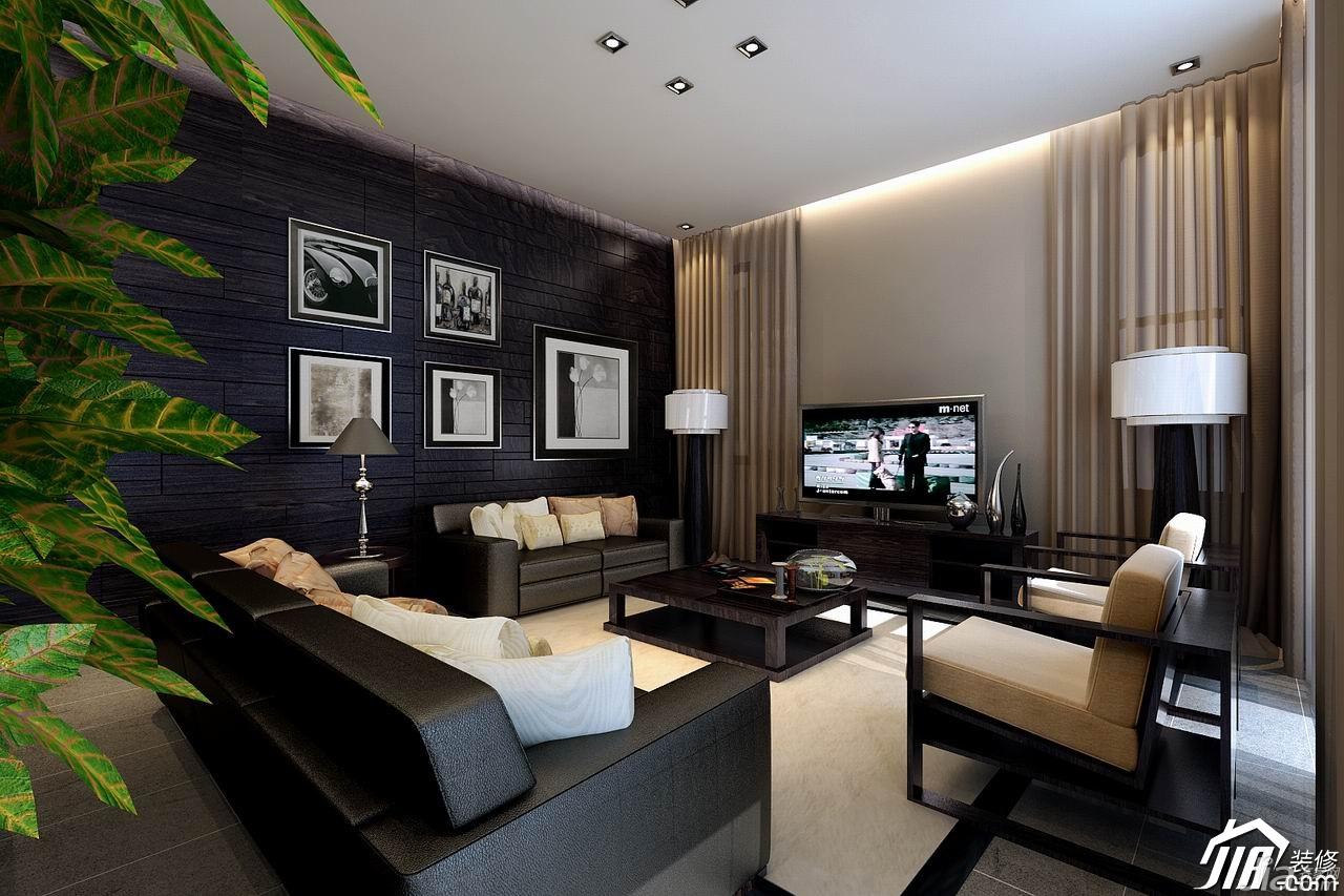 简欧风格别墅时尚20万以上客厅沙发背景墙沙发图片