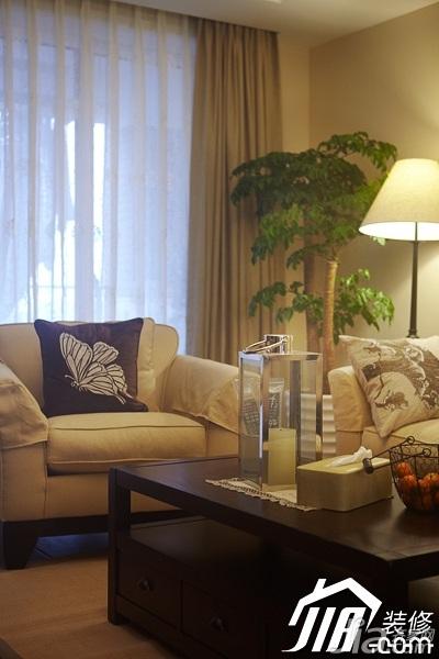 美式风格四房温馨富裕型140平米以上客厅装修效果图