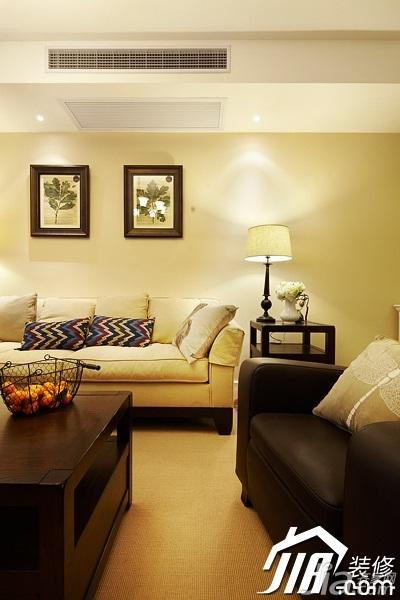 美式风格四房温馨富裕型140平米以上客厅沙发图片