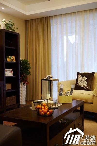 美式风格四房温馨富裕型140平米以上客厅茶几图片