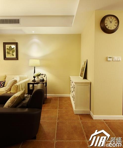美式风格四房温馨富裕型140平米以上客厅装潢