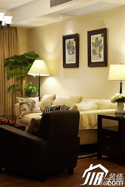 美式风格四房温馨富裕型140平米以上客厅沙发背景墙沙发效果图