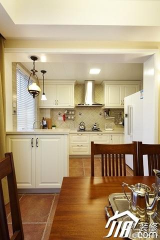 美式风格四房温馨富裕型140平米以上厨房橱柜安装图