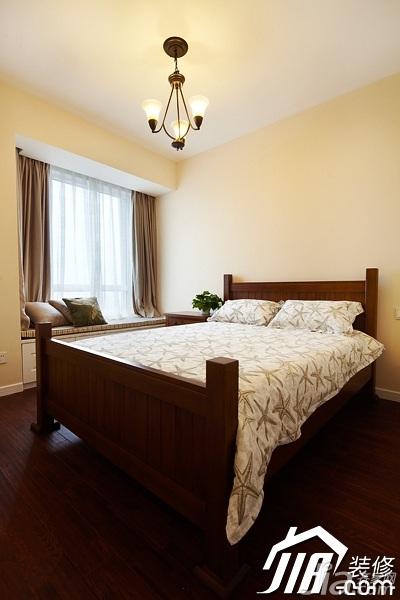 美式风格四房温馨富裕型140平米以上卧室飘窗床效果图