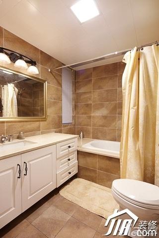 美式风格四房温馨富裕型140平米以上卫生间浴室柜效果图