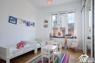欧式风格别墅小清新白色富裕型140平米以上儿童房儿童床图片