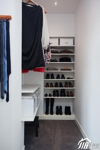 欧式风格别墅小清新白色富裕型140平米以上衣帽间鞋柜效果图
