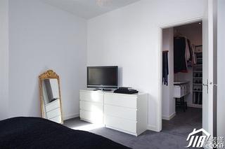 欧式风格别墅小清新白色富裕型140平米以上卧室电视柜效果图