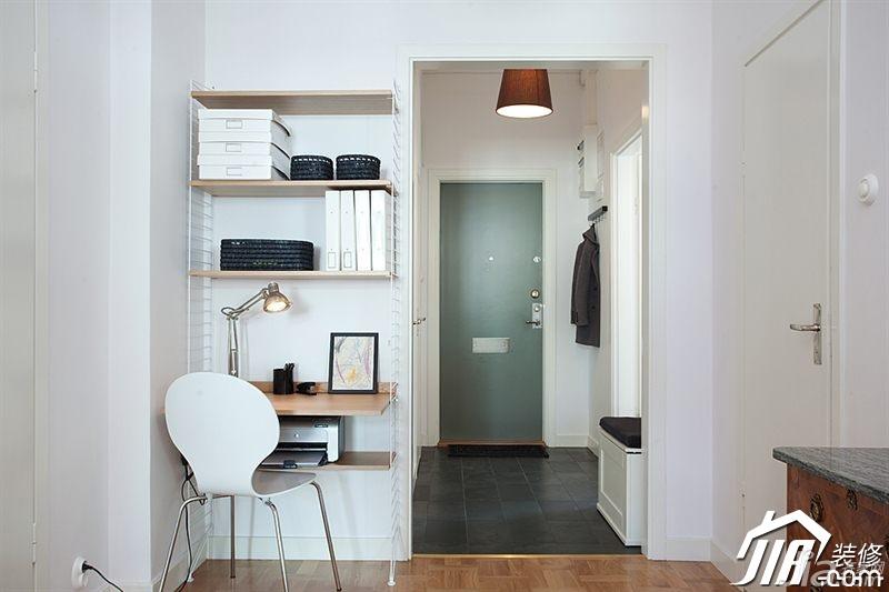 欧式风格别墅小清新白色富裕型140平米以上书房书桌效果图