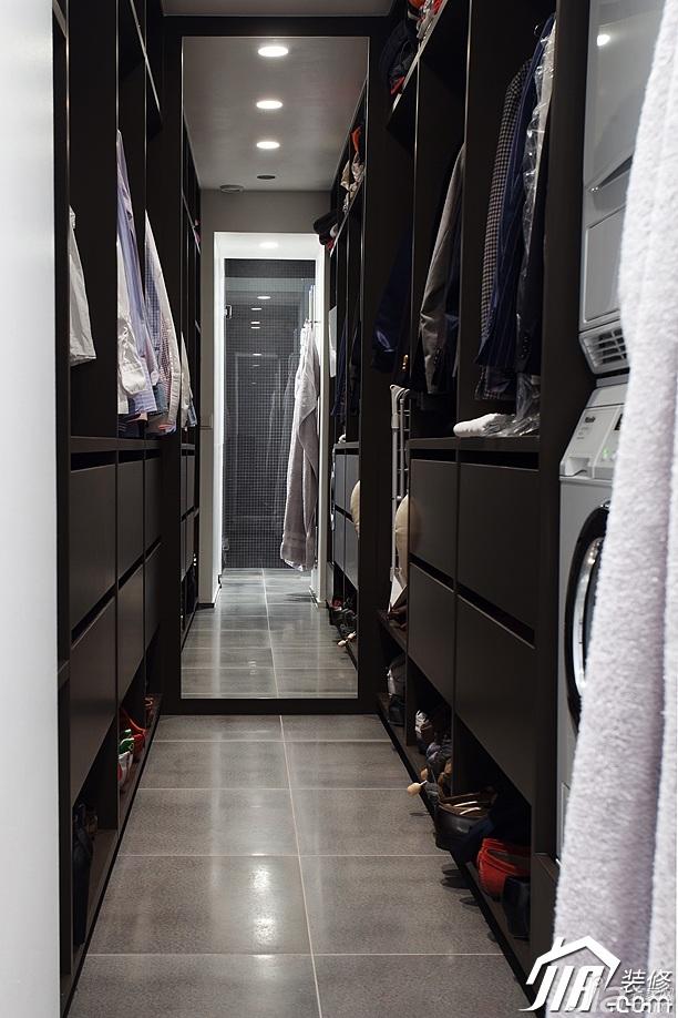欧式风格小户型时尚冷色调富裕型衣帽间衣柜订做