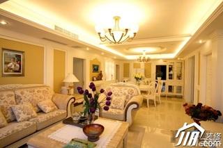简约风格三居室20万以上客厅灯具效果图