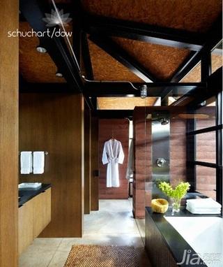美式风格别墅原木色富裕型140平米以上卫生间吊顶装修图片