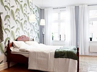 北欧风格公寓经济型70平米卧室窗帘效果图