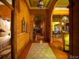 别墅古典暖色调豪华型140平米以上过道效果图