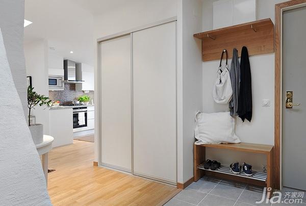 北欧风格公寓经济型110平米玄关玄关柜效果图