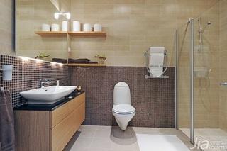 北欧风格公寓经济型110平米卫生间洗手台效果图