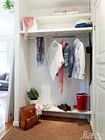 50平米小户型效果图 北欧风格公寓经济型50平米衣帽间装修图片