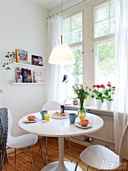 经济型50平米餐厅飘窗窗帘效果图高清图片