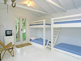 别墅卧室儿童床效果图