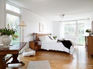 北欧风格别墅经济型130平米卧室窗帘效果图