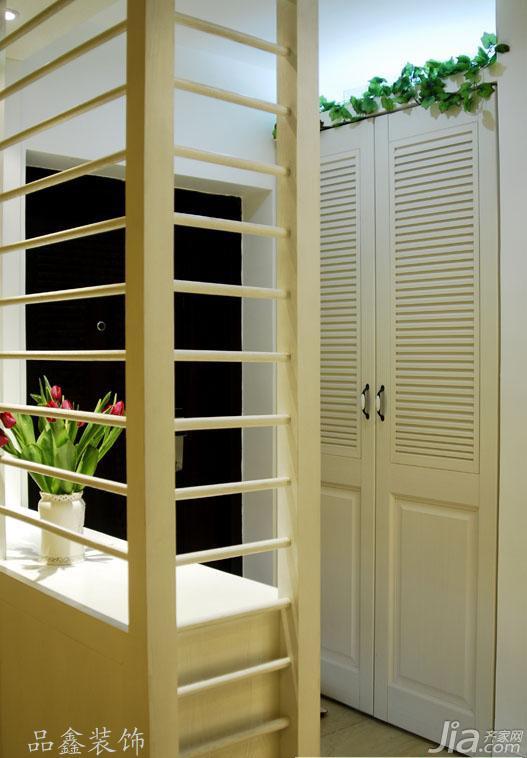 地中海风格三居室富裕型隔断玄关柜图片