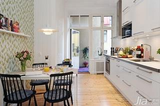 北欧风格公寓经济型80平米厨房餐桌效果图