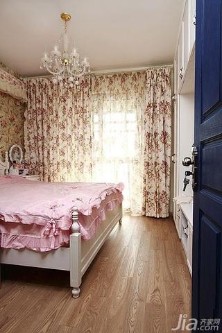 混搭风格二居室经济型卧室窗帘图片